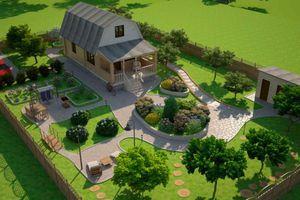ландшафтный дизайн участка перед домом фото 1