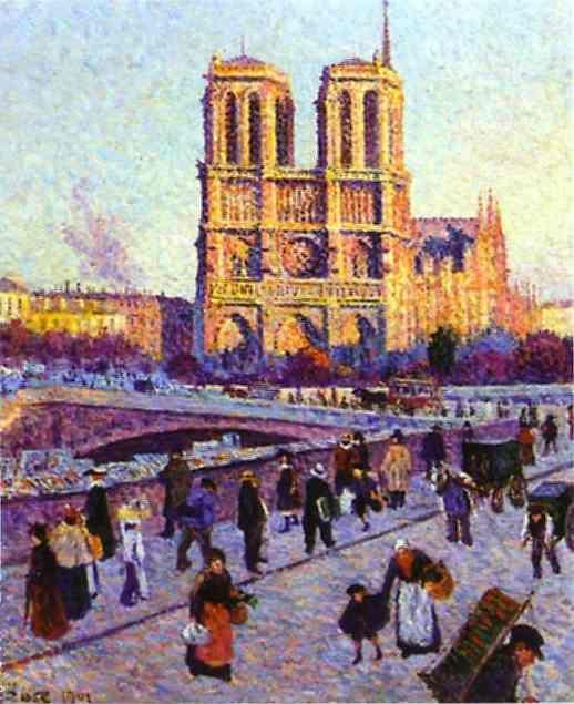 Масимильен Люс «Собор Парижской Богоматери», 1899 г.