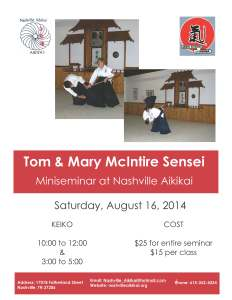 Tom & Mary Sensei Seminar Aug 2014