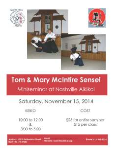 Tom & Mary Sensei Seminar Nov 2014