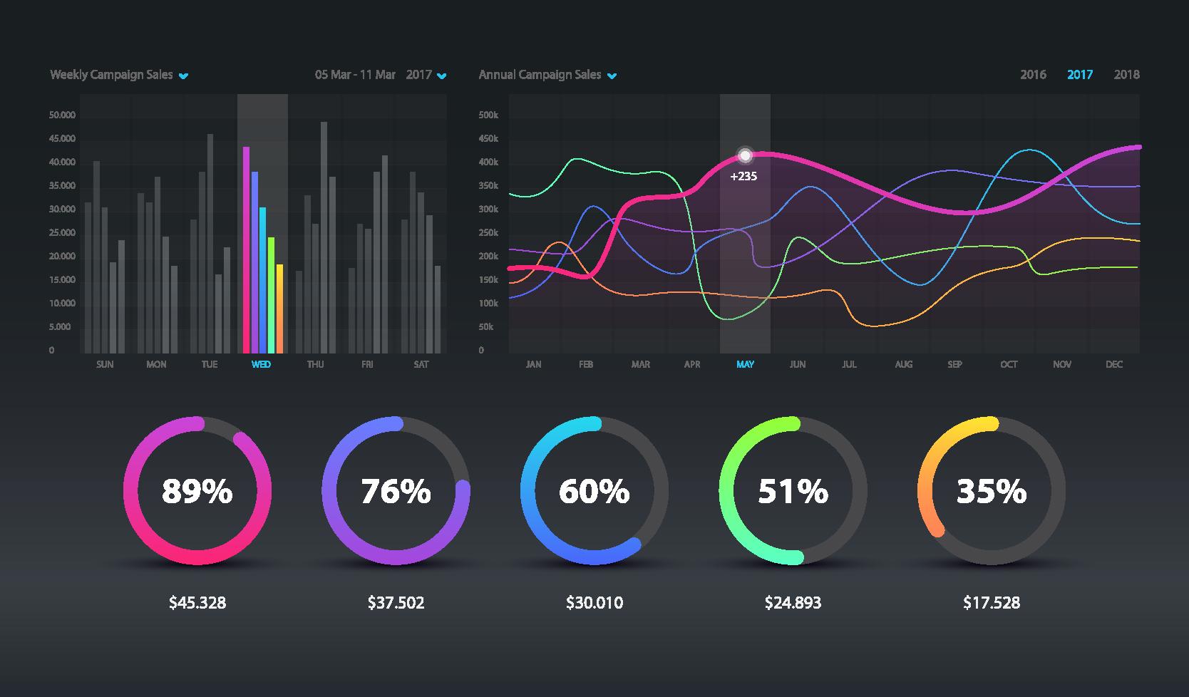 Sample of Data Visualization Dashboard