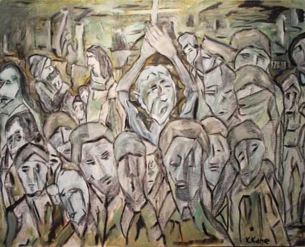 Oil Paintings of People Crowds