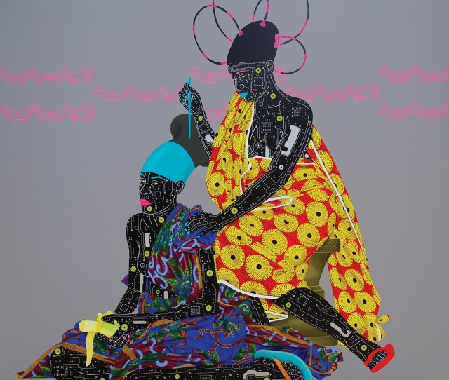 Eddy Kamuanga Ilunga Tambour Ii 2015 Acrylic And Oil On Canvas 59 E2 80 B E2 80 B3