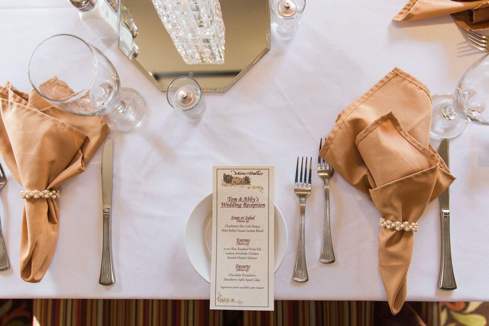 Wedding Menu Options at Mere Bulles Nashville