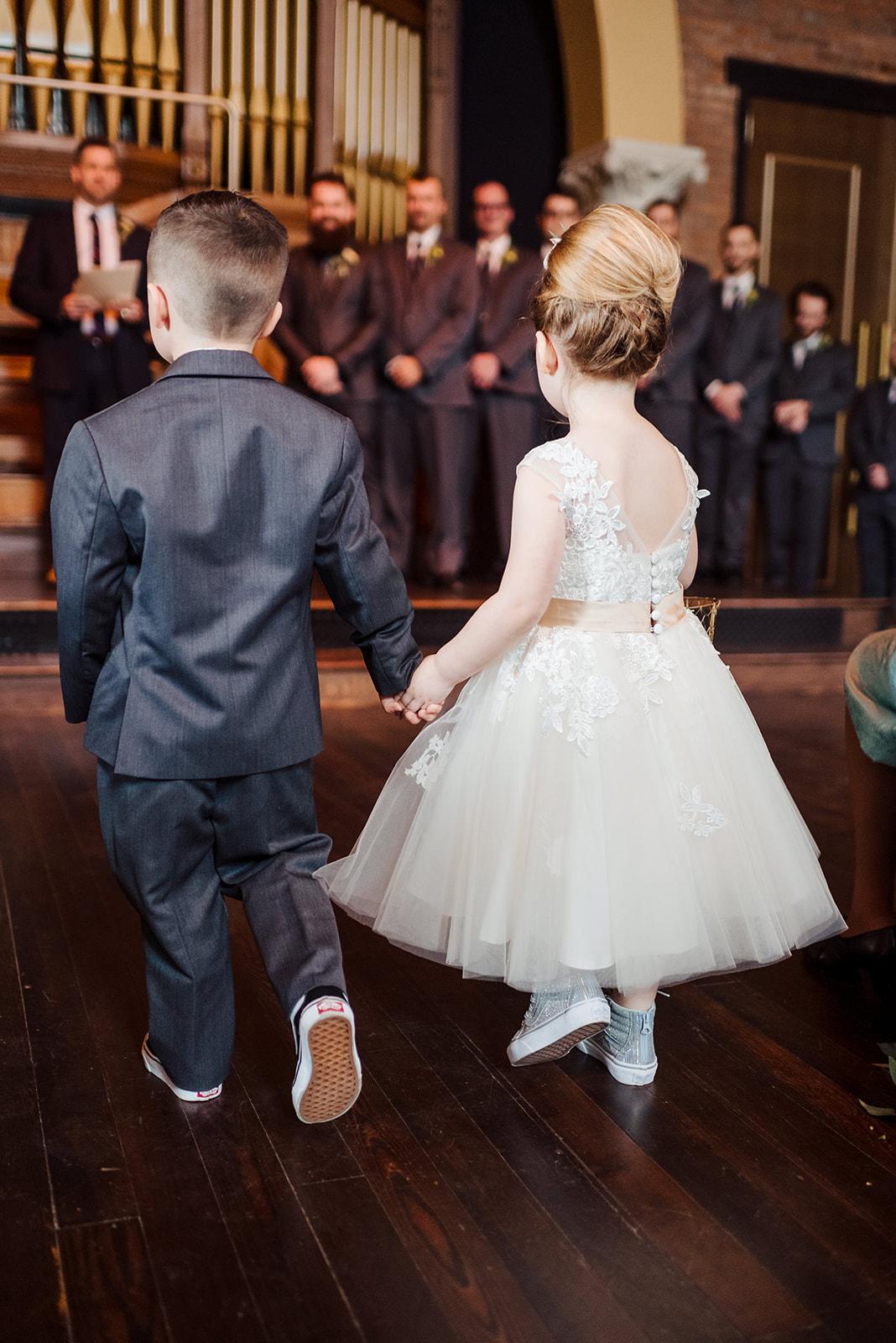 Flower girl and ring bearer: Nashville wedding at Clementine featured on Nashville Bride Guide