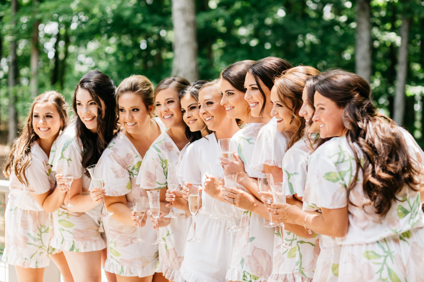 Bridal party: Rustic Front Porch Farms wedding featured on Nashville Bride Guide