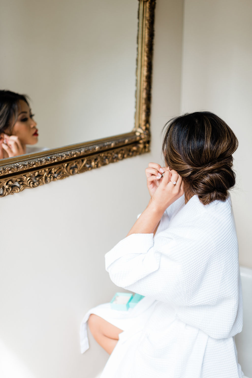 Wedding getting ready photo: Elegant Riverwood Mansion wedding featured on Nashville Bride Guide