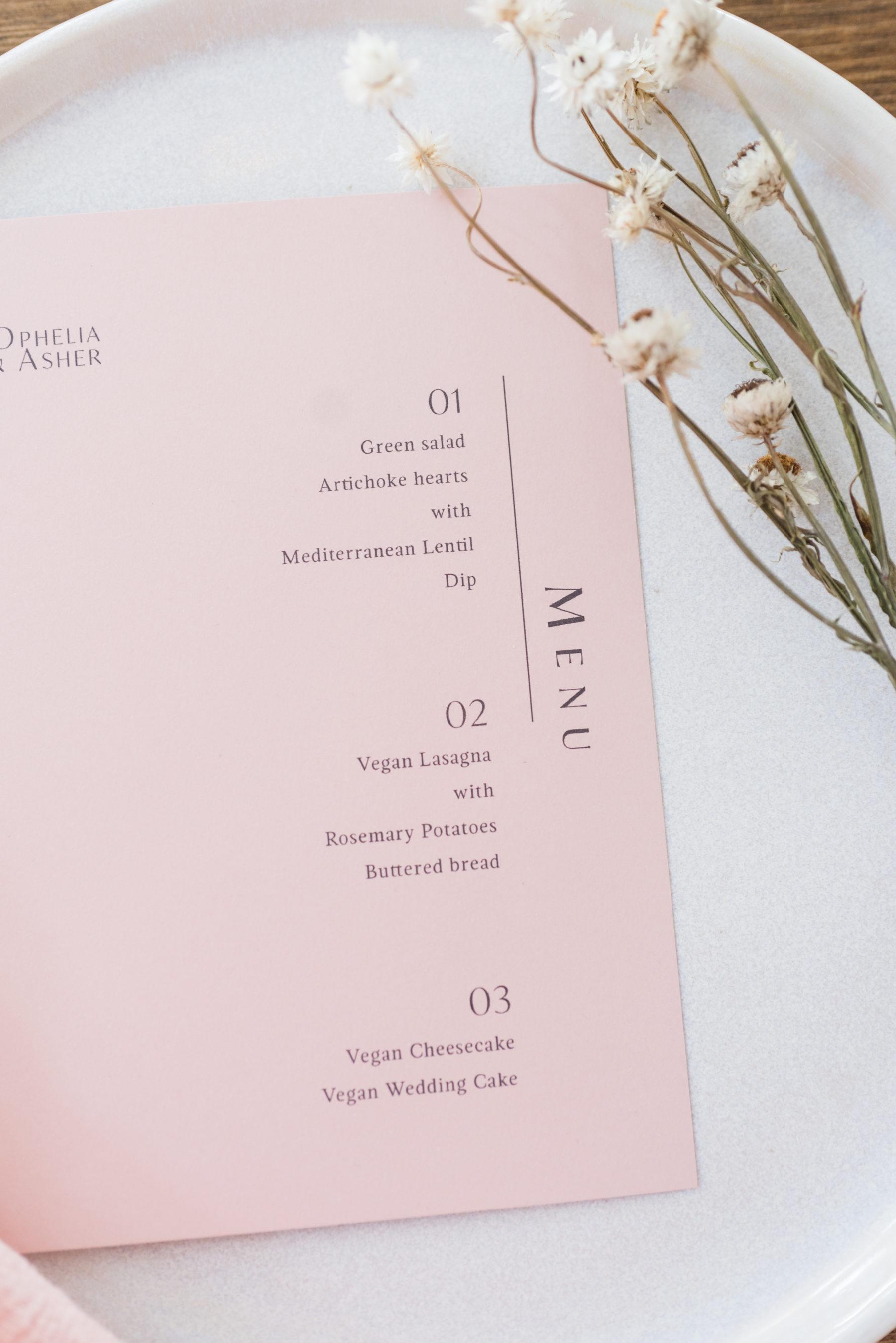 Blush Pink Wedding Stationery Design: Organic Eco-Friendly Wedding Styled Shoot featured on Nashville Bride Guide