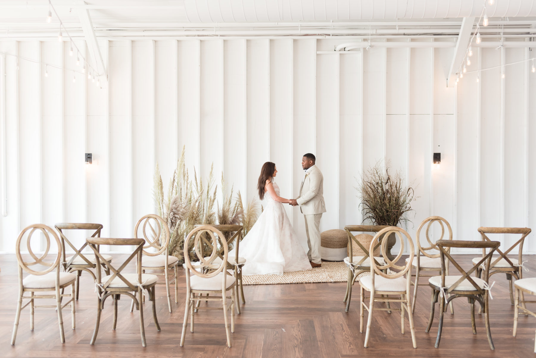 Simple Wedding Ceremony Decor: Organic Eco-Friendly Wedding Styled Shoot featured on Nashville Bride Guide