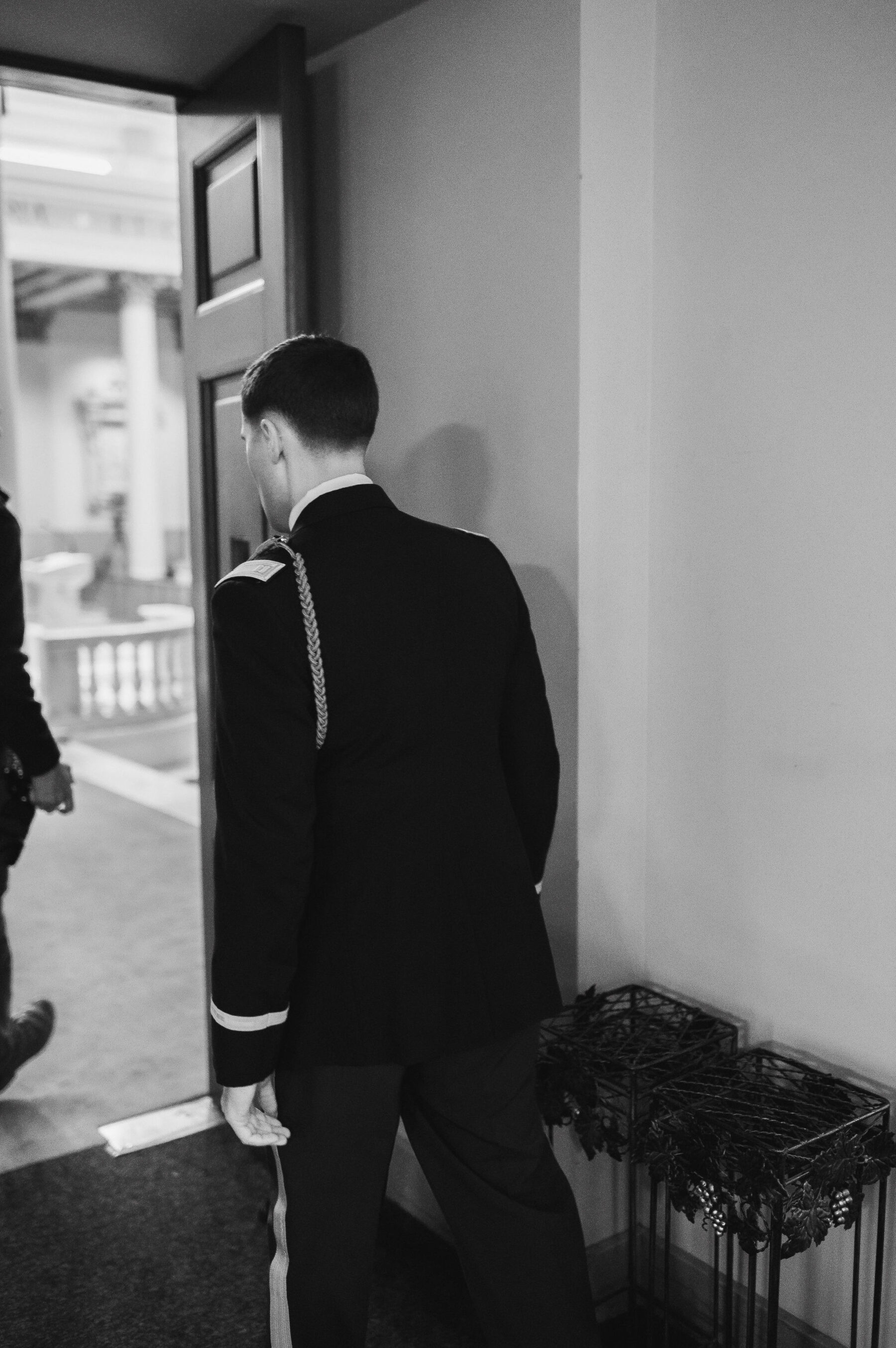 Groom heading into ceremony: Classic Winter Wedding by Details Nashville