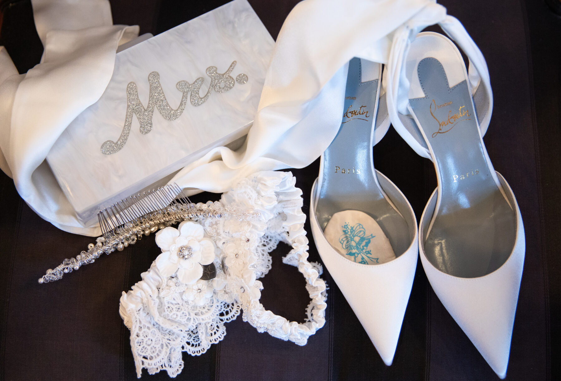 Louboutin bridal shoes: Floral Filled Luxurious Wedding by LMA Designs featured on Nashville Bride Guide