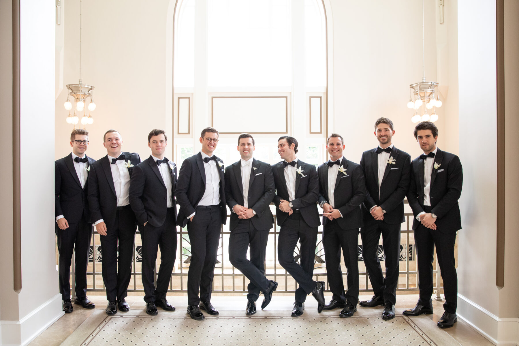 Groomsmen portrait: Floral Filled Luxurious Wedding by LMA Designs featured on Nashville Bride Guide