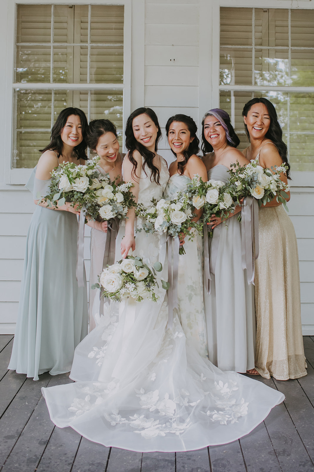 Pastel bridesmaids dresses: Summer Soiree at Cedarwood Weddings featured on Nashville Bride Guide