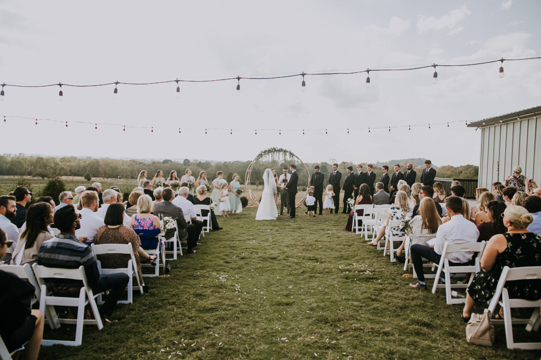 Outdoor wedding inspiration: Nashville Wedding with Beautiful Views by Teale Photography featured on Nashville Bride Guide