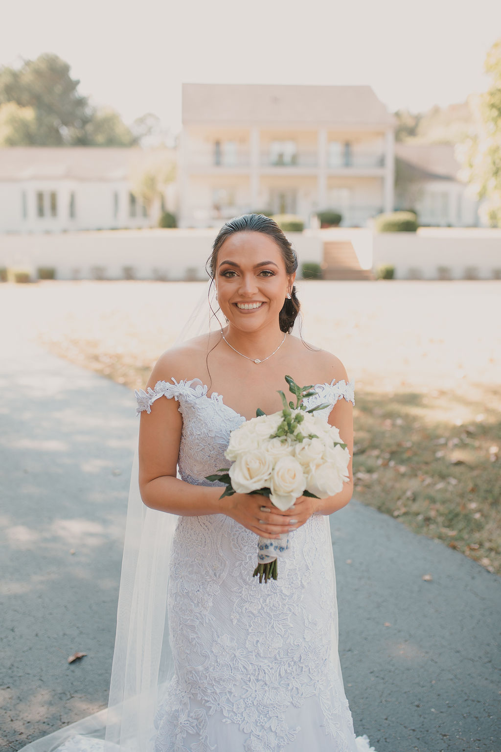 Bridal portrait: Romantic Outdoor Wedding at Reunion Stay