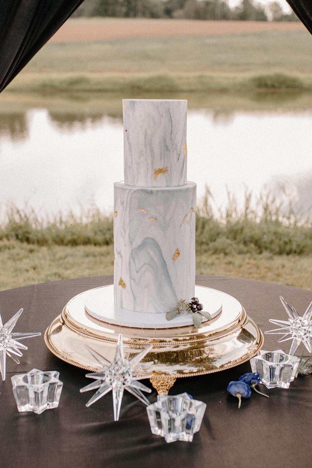 Celestial wedding cake design