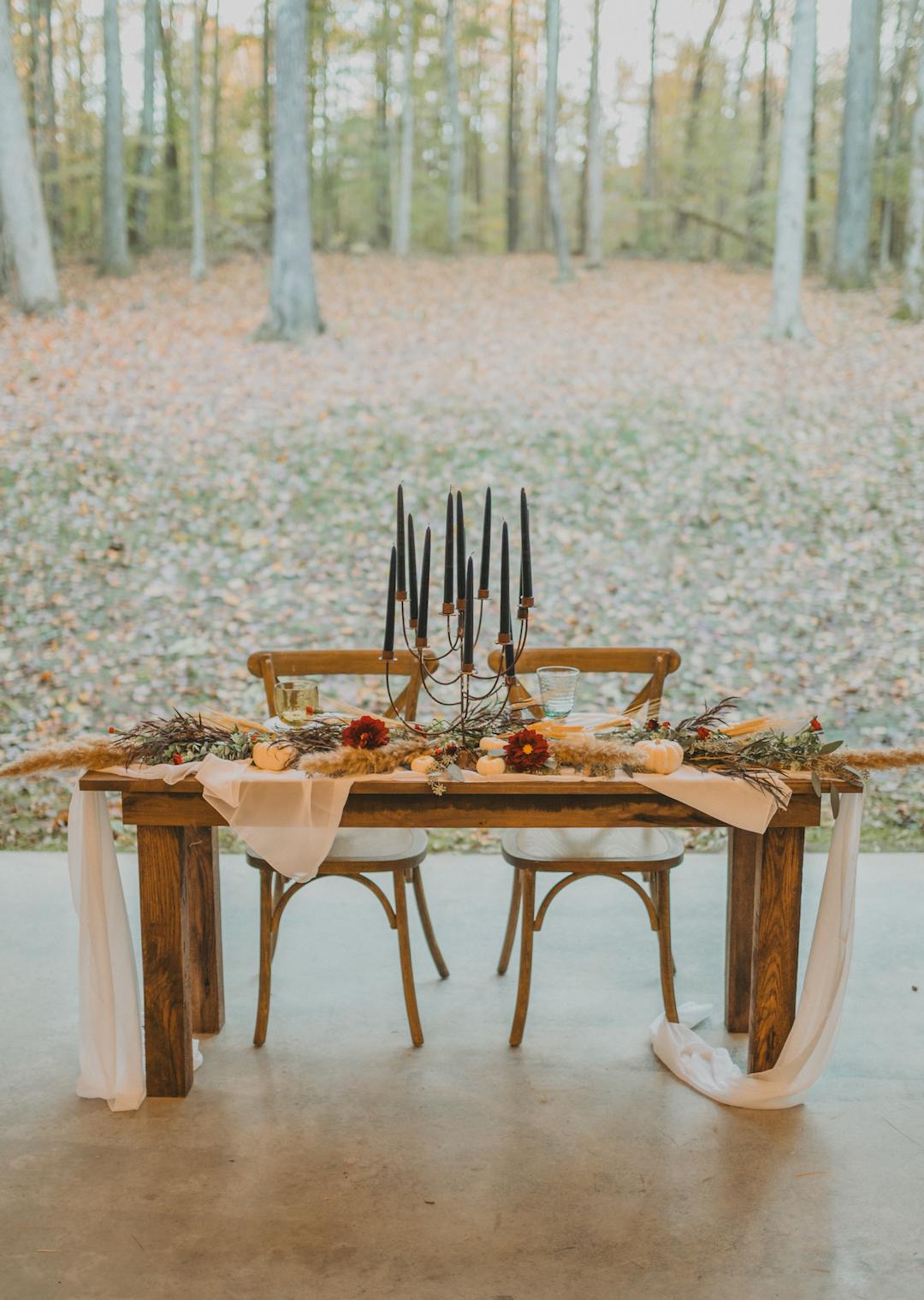Wedding sweetheart table design