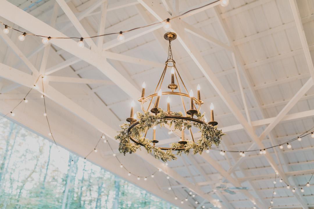 Greenery wedding chandelier
