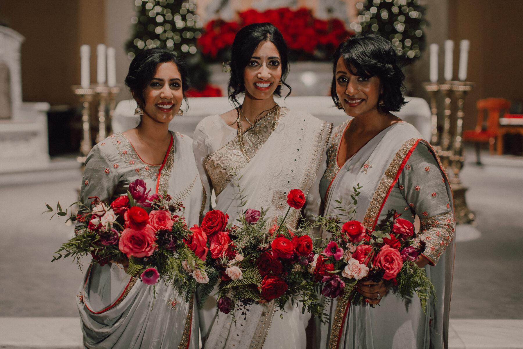 Red winter wedding bouquets   Nashville Bride Guide