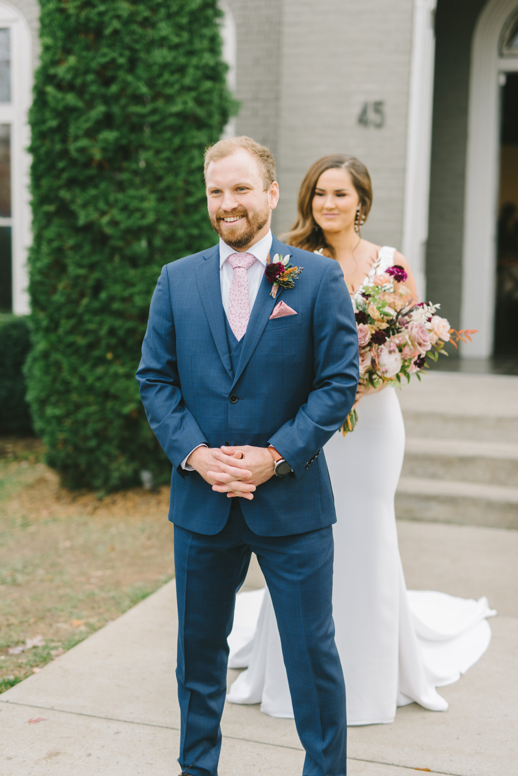 Wedding first look at The Cordelle   Nashville Bride Guide