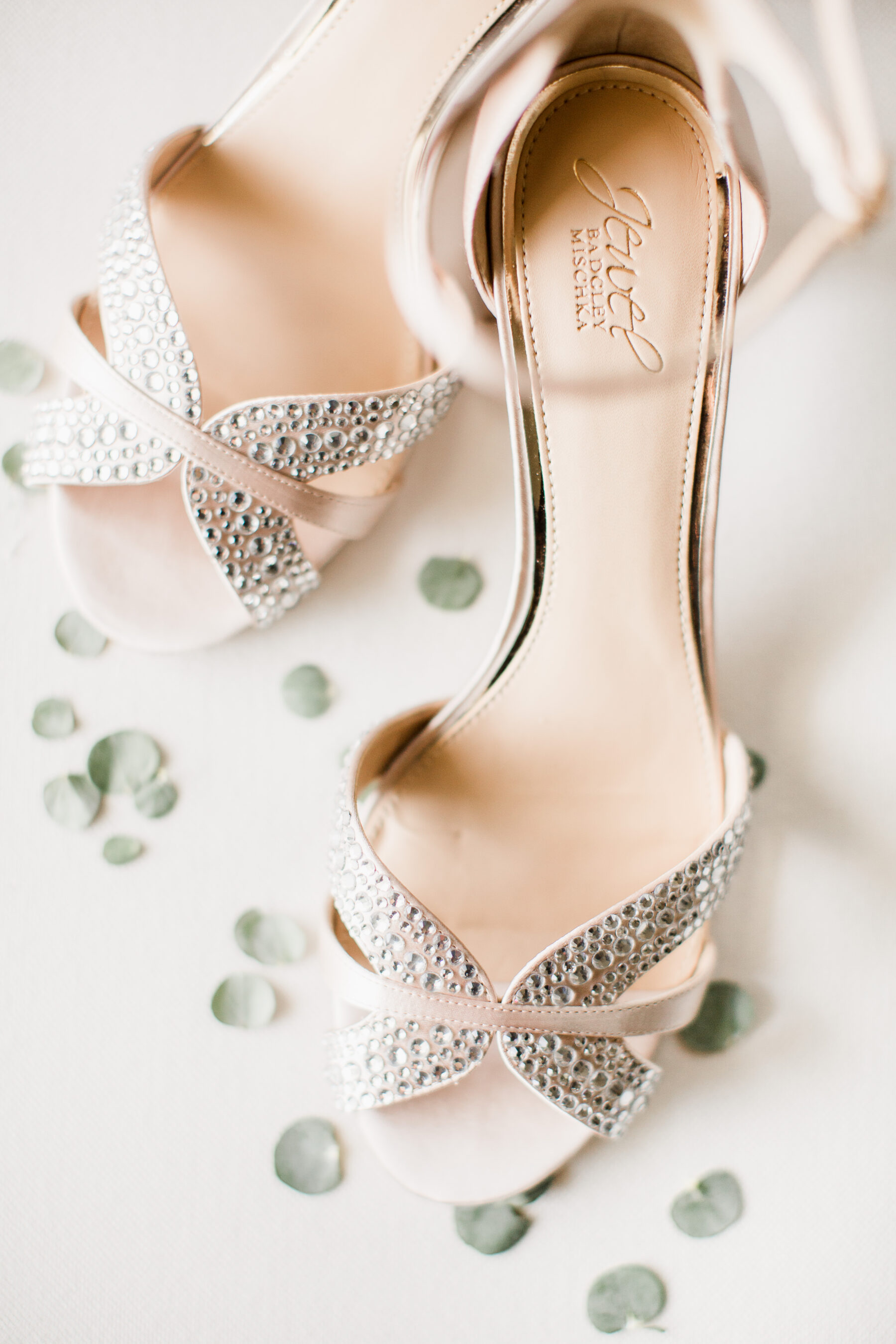 Jewel Badgley Mischka wedding shoes   Nashville Bride Guide