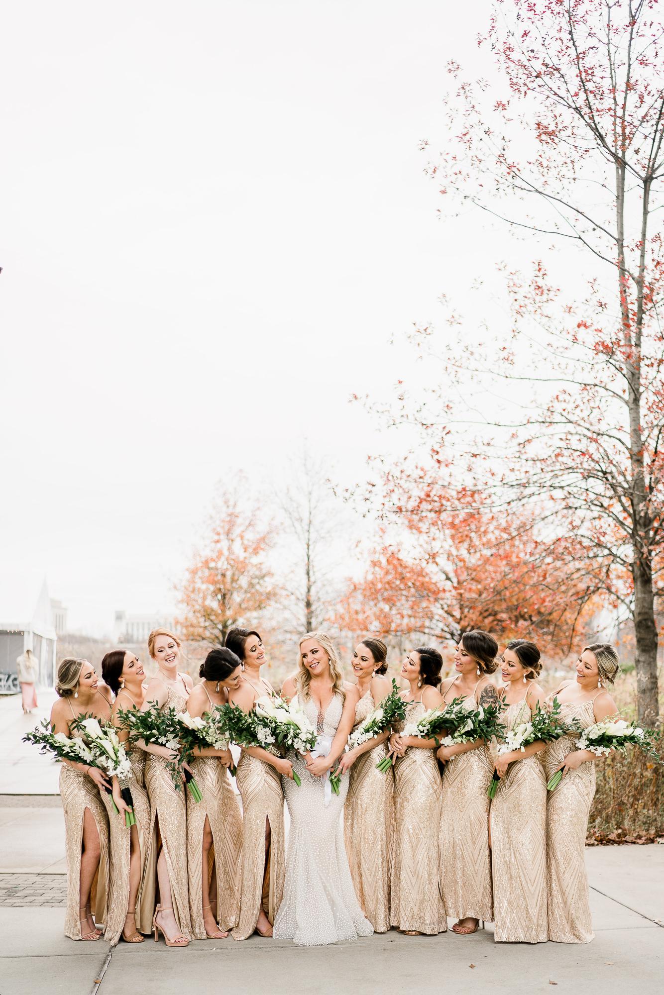 Sparkly Gold Bridesmaid Dresses   Nashville Bride Guide