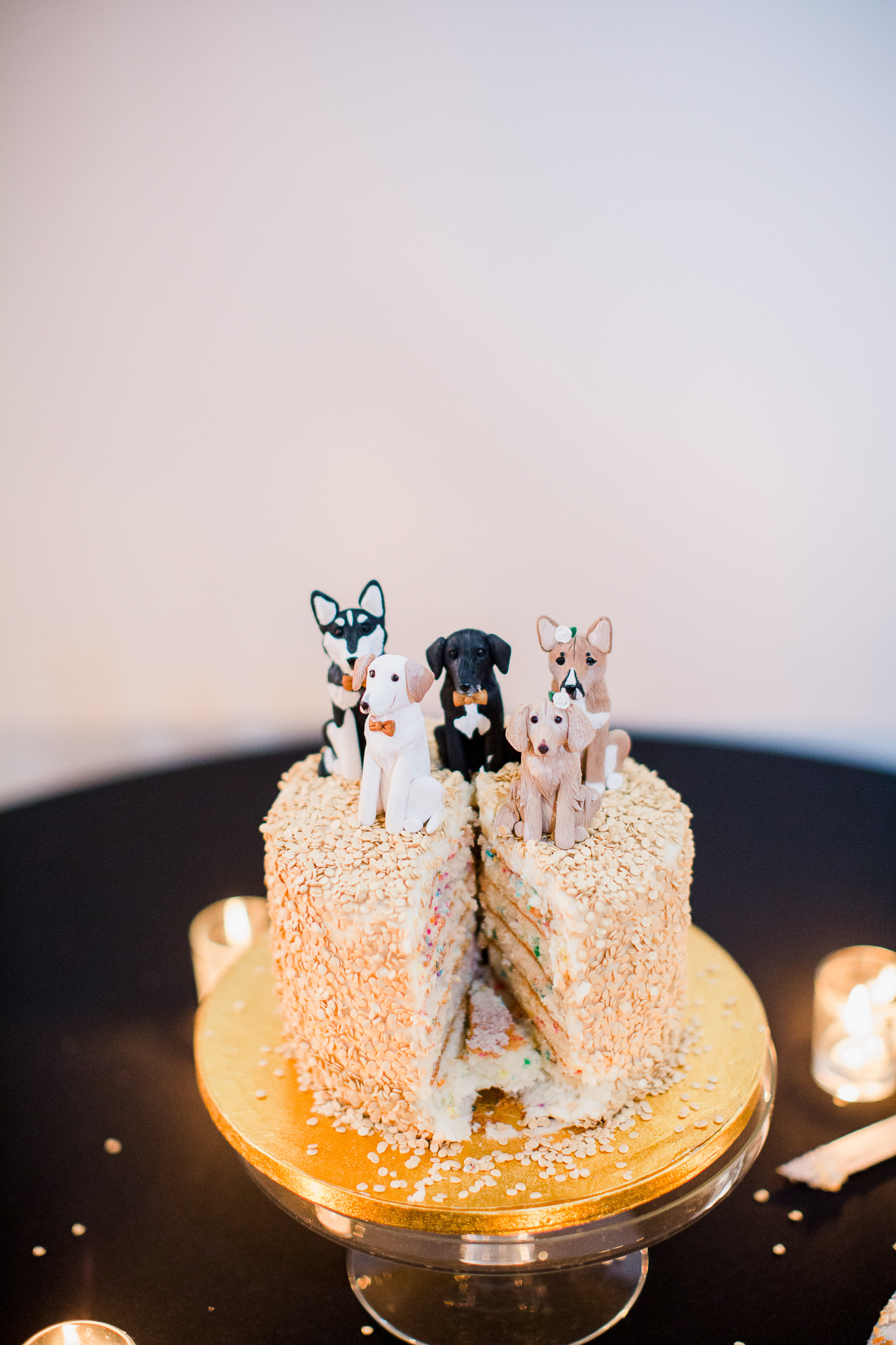 Small wedding cake design with custom cake toppers   Nashville Bride Guide