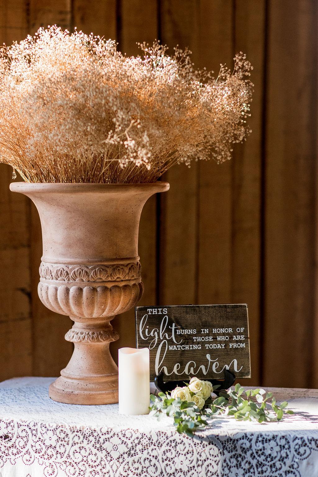 In memory of wedding reception decor   Nashville Bride Guide
