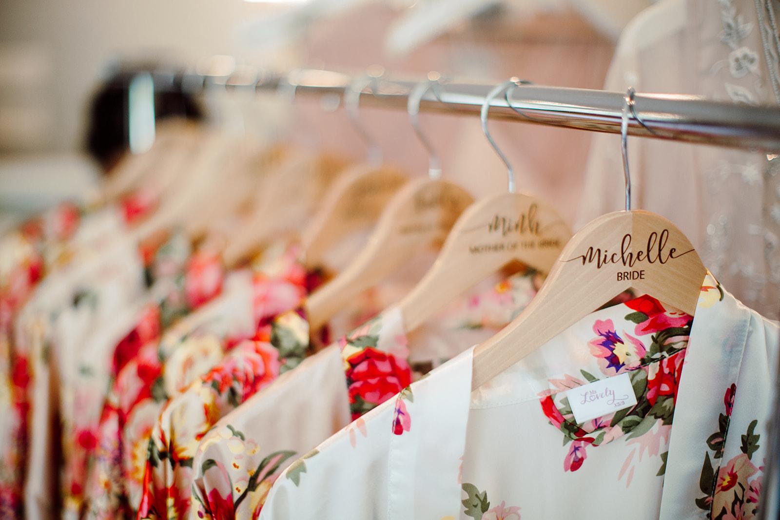 Personalized wedding hangers