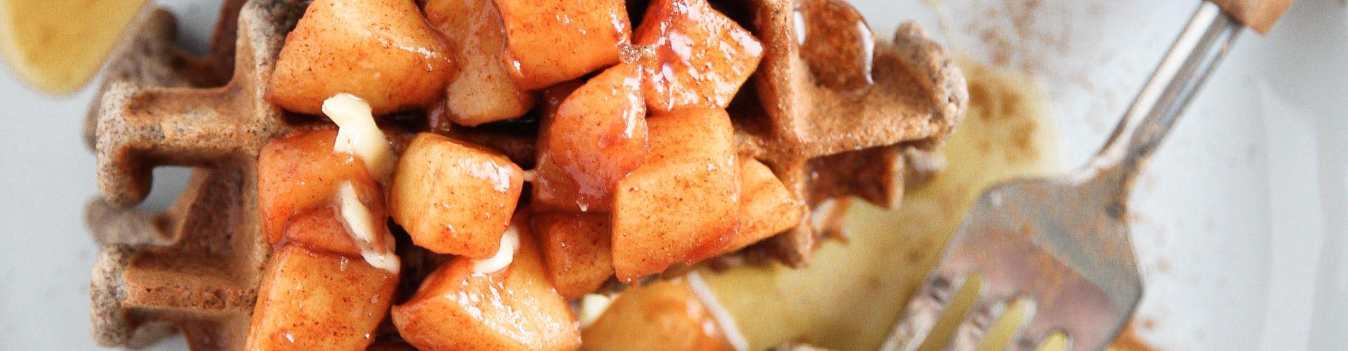 Apple Cider Buckwheat Waffles