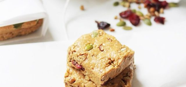 Raw Peanut Butter Protein Bars