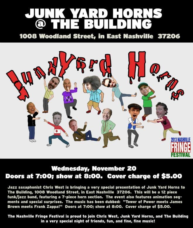 Junkyard Horns Nashville Fringe Festival