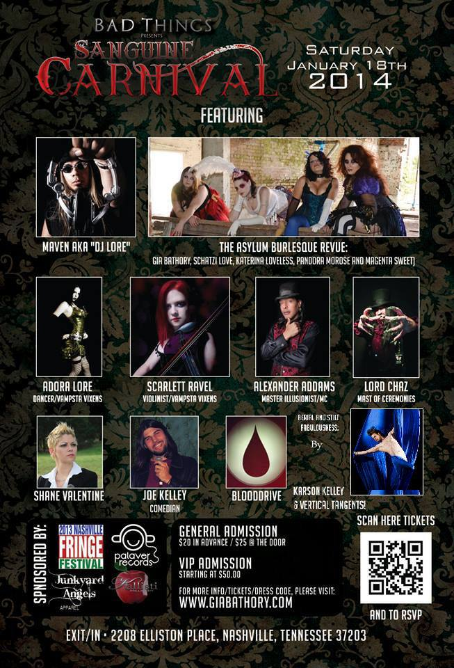 Bad Things Vampyre Ball Presents the Sanguine Carnival