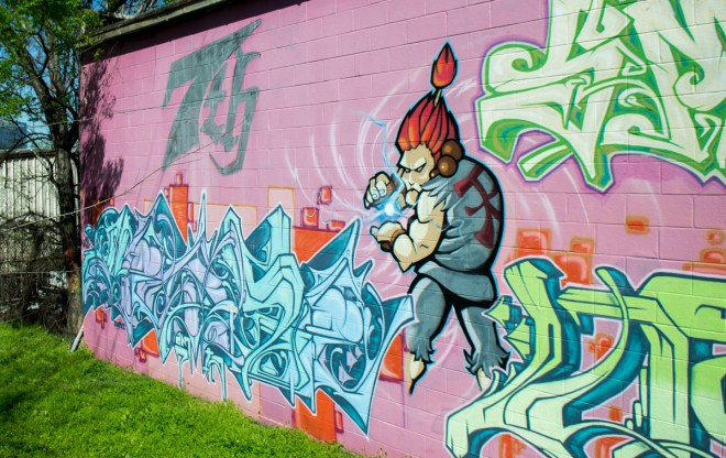 Street Fighter Graffiti Street Art Division St Nashville 03