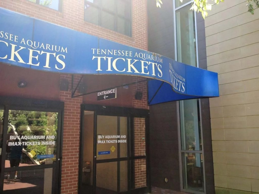 Tennessee State Aquarium Ticket Window