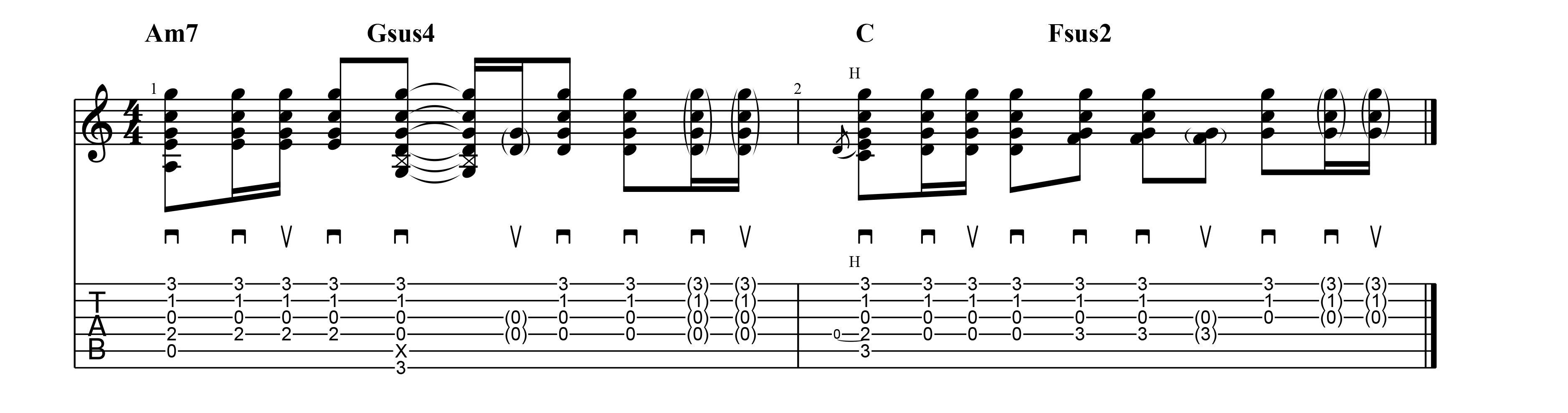 color chord strum