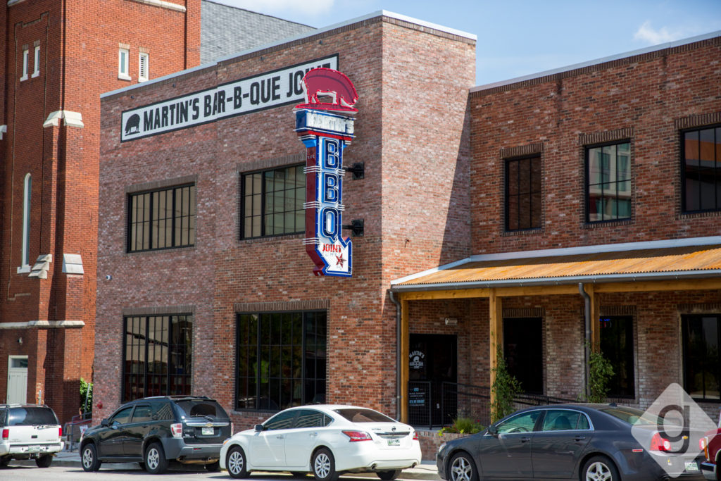 A Look Inside Martins BarBQue in SoBro  Nashville Guru