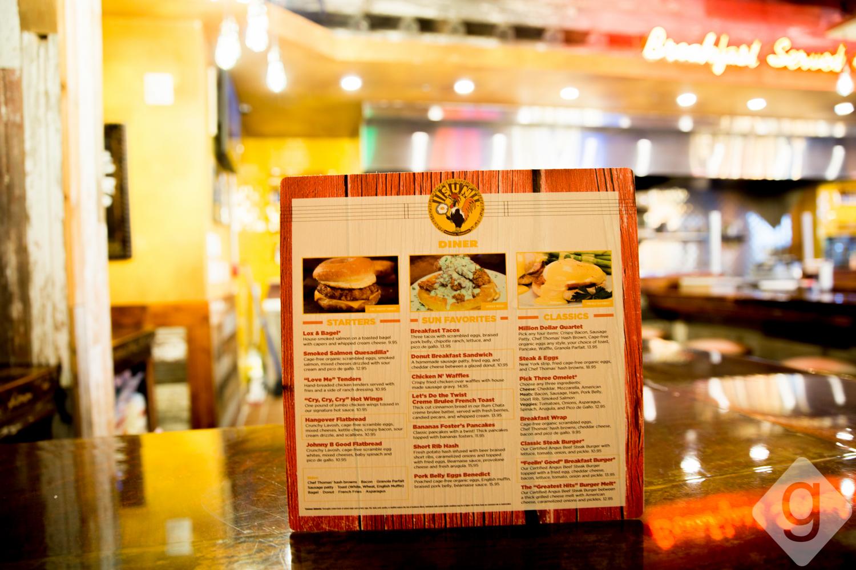 rooster decor kitchen pendant lighting ideas a look inside: sun diner café | nashville guru