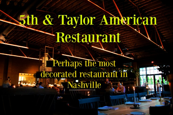 5th & Taylor American Restaurant has received some of the best National Reviews of any Nashville Restaurant.