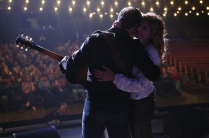 """NASHVILLE - """"That's the Way Love Goes"""" - Rayna's anniversary of her induction into the Grand Ole Opry is cause for celebration and guest starring cameos by country stars Vince Gill and Lorrie Morgan as themselves. Rayna reaches out to Deacon and her daughters to perform with her, prompting the girls' hopes of the couple reuniting romantically. Will is uncomfortable when he's paired with an out gay man to collaborate on songwriting. Sadie is interviewed by Robin Roberts on """"Good Morning America"""" and goes public about her private battle, on """"Nashville,"""" WEDNESDAY, MARCH 4 (10:00-11:00 p.m. ET) on the ABC Television Network. (ABC/Mark Levine) CHARLES ESTEN, CONNIE BRITTON"""