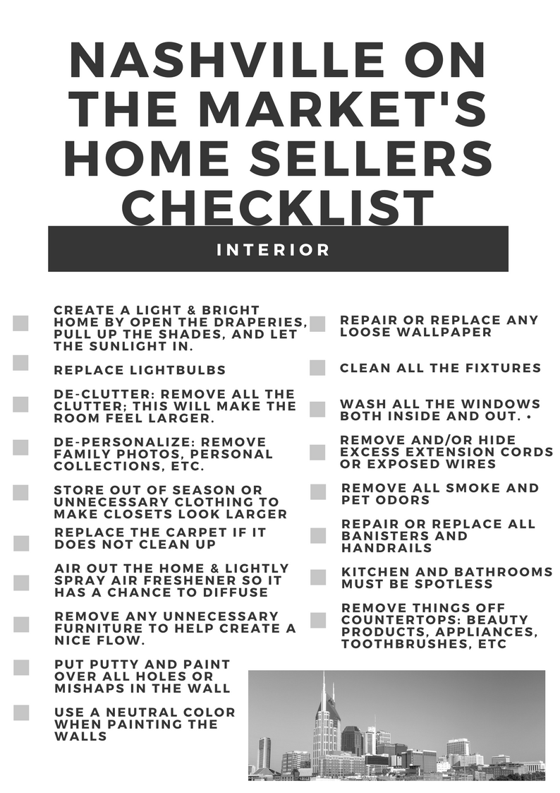 SO Below Your New Home Selleru0027s Checklist! You Can Download The PDF And  Print Using This Link: HERE. HAPPY SELLING!