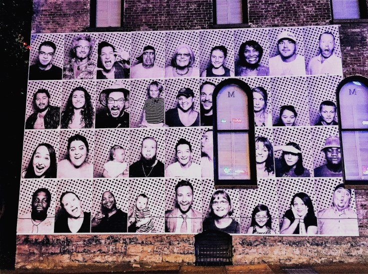 Portraits mural street art Nashville