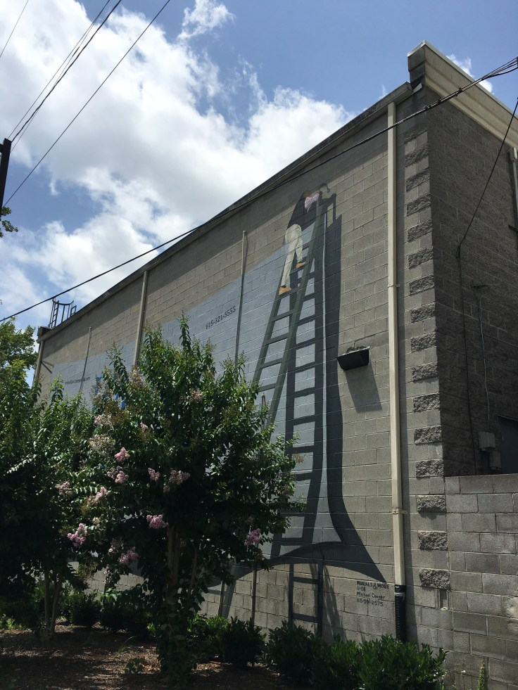 trompe l'oeil street art mural Nashville