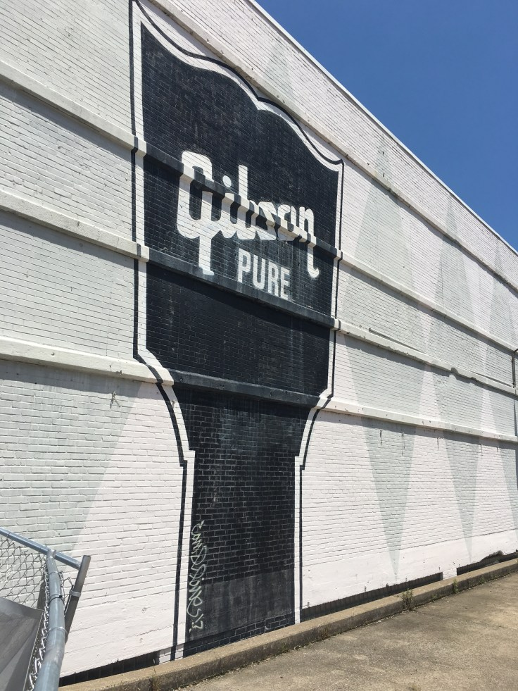 Gibson sign mural street art Nashville