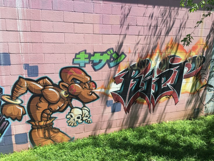 Graffiti tags street art Nashville