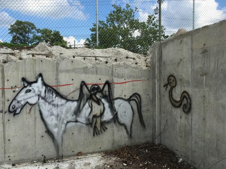 Horse and bird graffiti street art Nashville