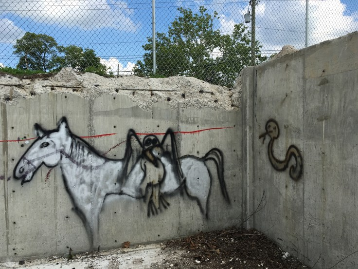 Horse and bird graffiti street art Nashville