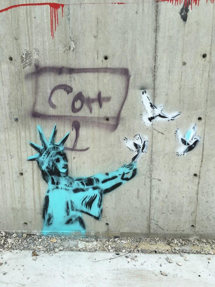 Statue of Liberty and Birds street art Nashville