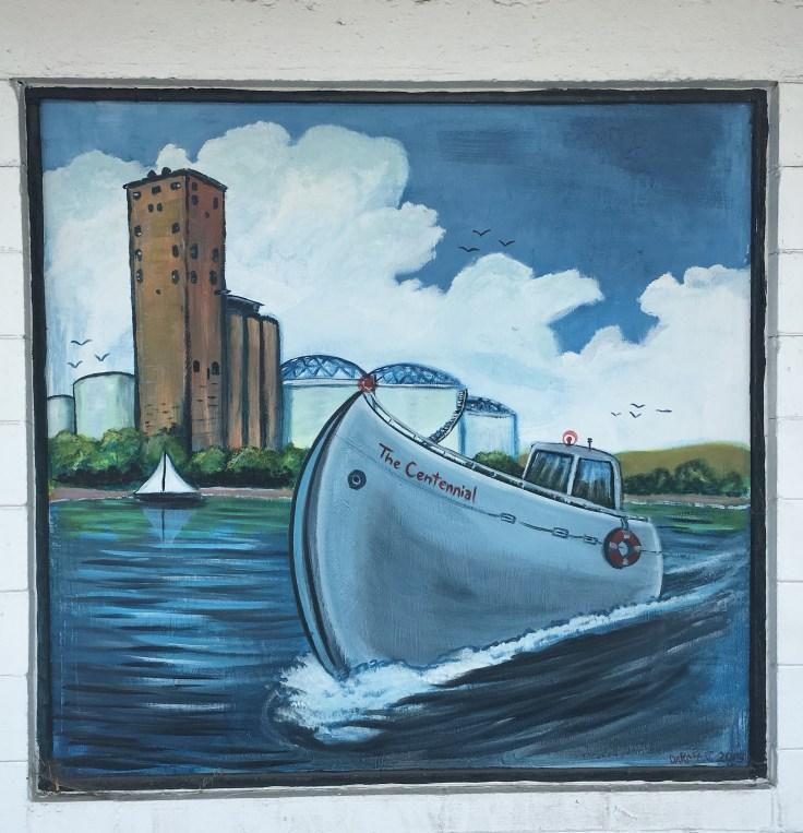 Boat mural street art Nashville