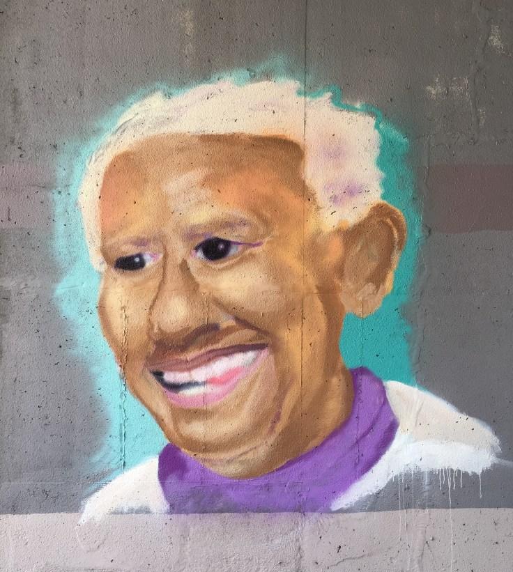 Portrait mural street art Nashville